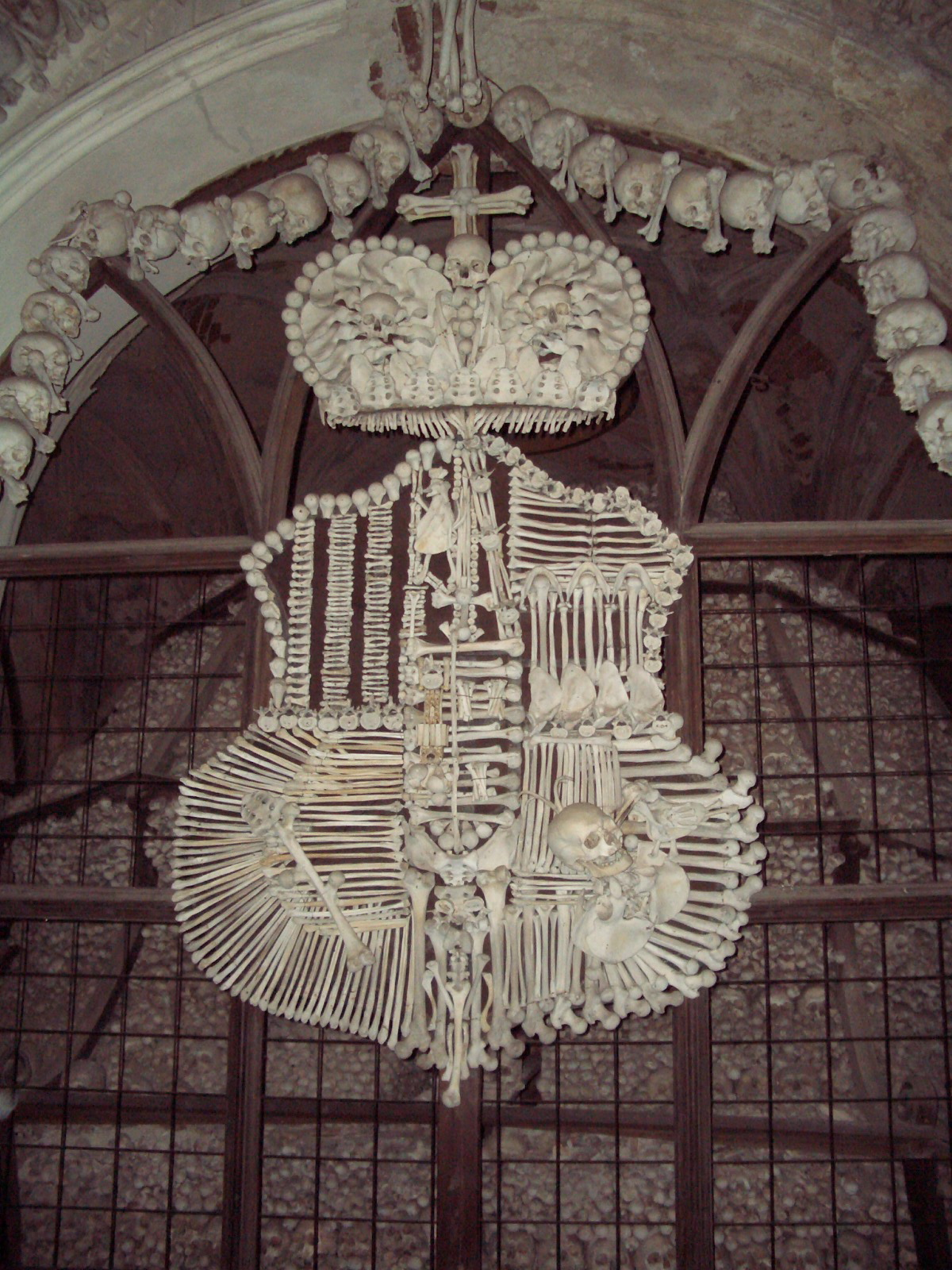 sculpture made from human bones