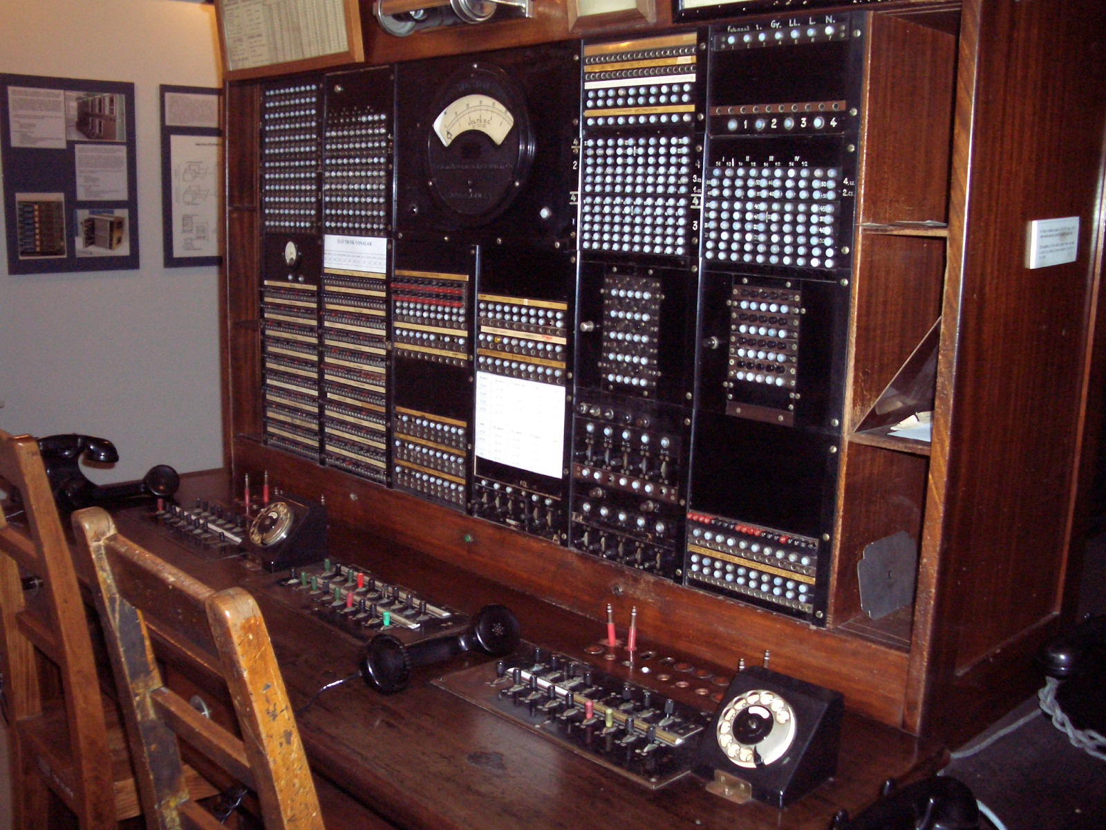 testboard at the Budapest Telephone Museum